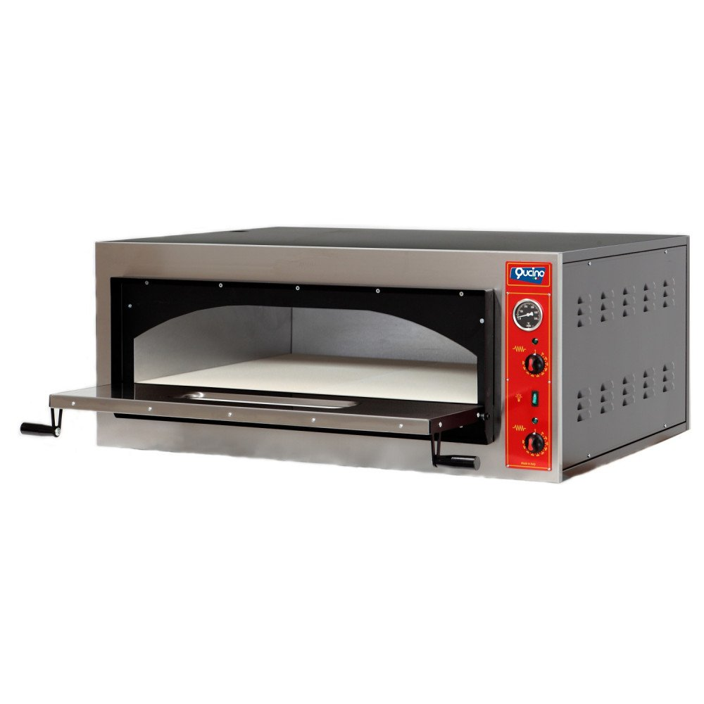 Forno Pizza Qucino Elettrico Gourmet Sovrapponibile ad Una Camera con Bocca Alta da 18 cm - Capacità 4 Pizze Diametro 34 Oppure n. 2 Teglie EN 60x40