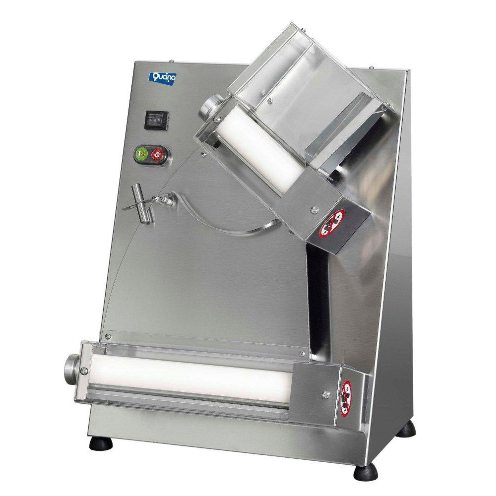 Stendipizza/Sfogliatrice Qucino a Rulli Inclinati con Pedale Diametro Pasta Fino a 40 cm