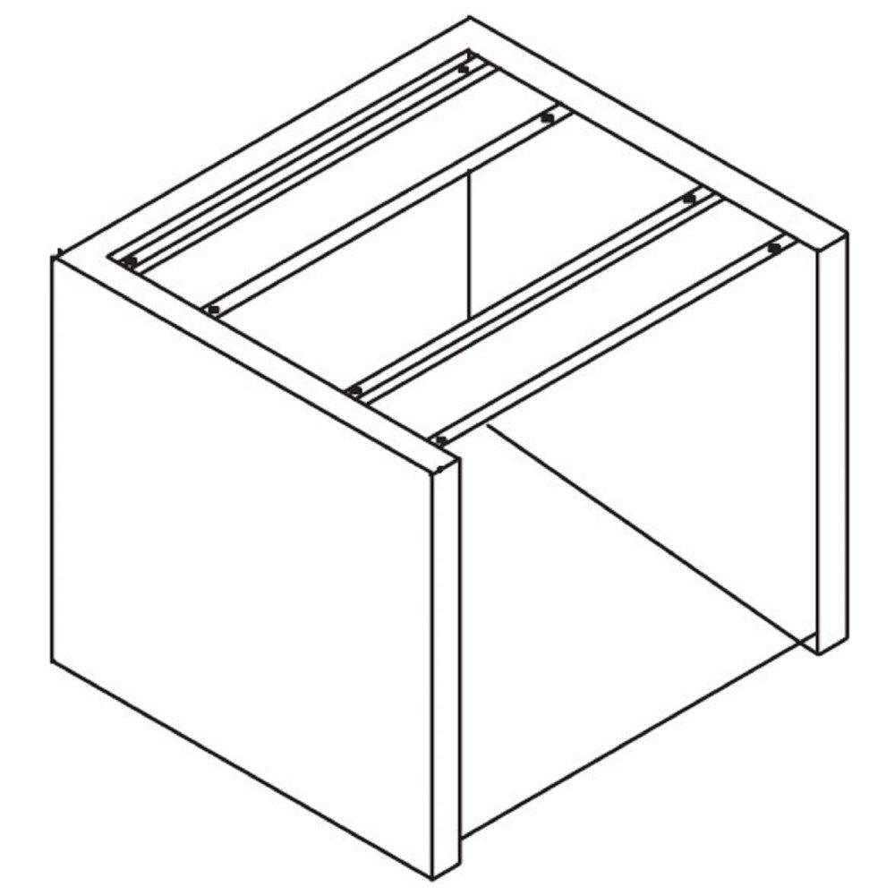 Supporto in Acciaio Inox Qucino per Lavastoviglie Sottobanco con Cesto 50x50 cm - H. 50 cm