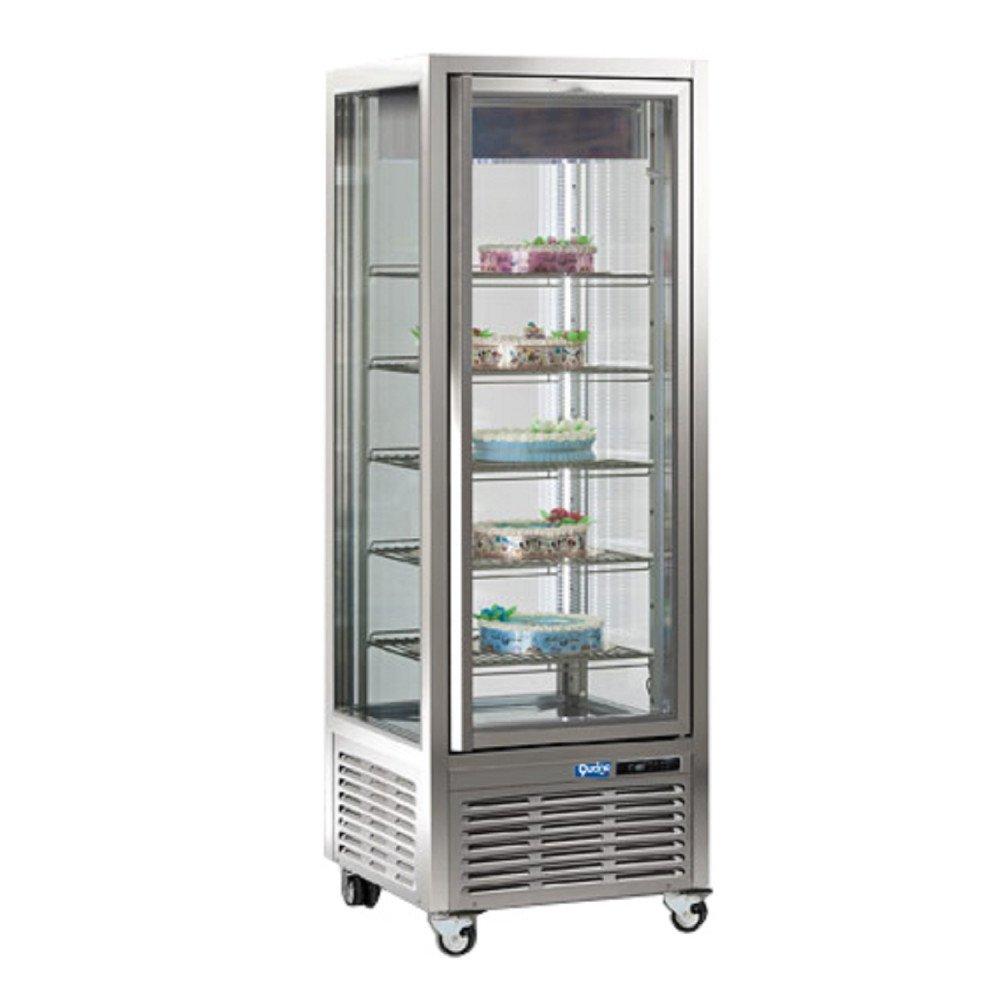 Espositore Verticale Qucino Capacità 450 Litri - Temperatura +5-18°C a Doppia Temperatura