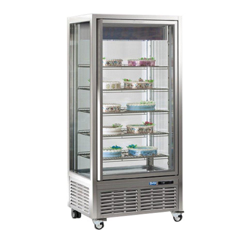 Espositore Verticale Qucino Capacità 650 Litri - Temperatura +5-18°C a Doppia Temperatura