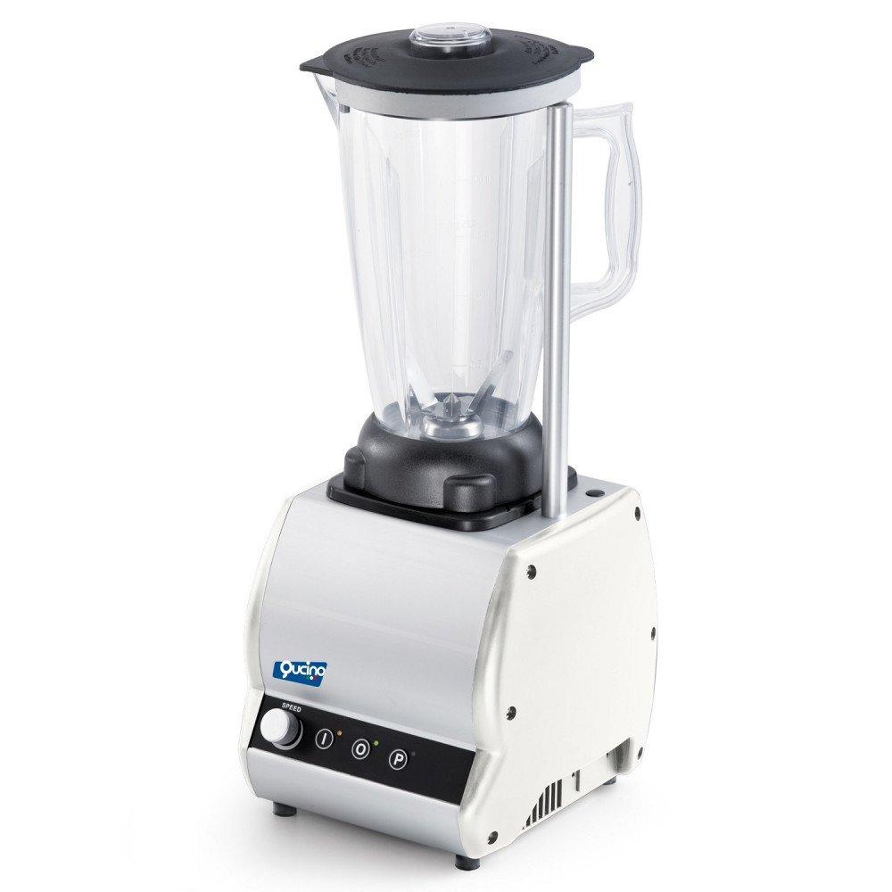Frullatore/Blender Qucino con Variatore di Velocità Bicchiere Tondo e Quadro da Litri 2