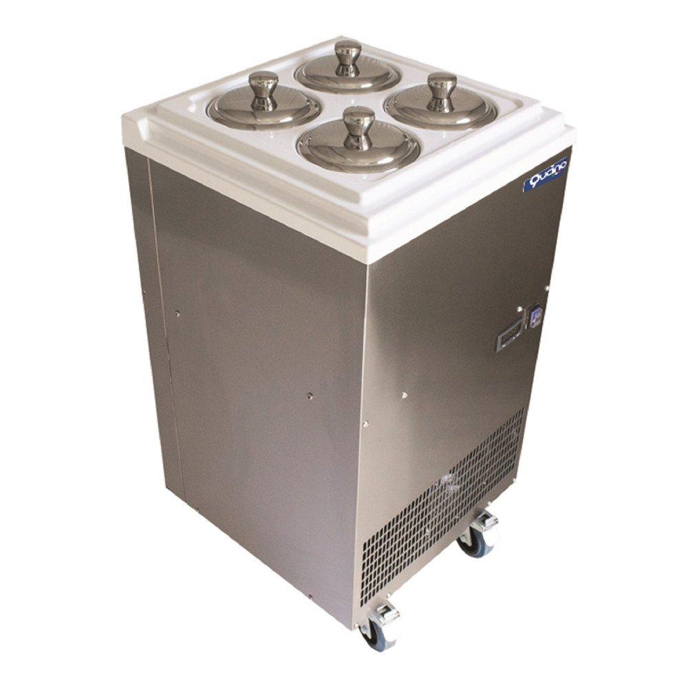 Conservatore Qucino a Pozzetto su Ruote con Raffreddamento Statico - Temperatura +4-25°C - Capacità n. 4 Carapine da 2,5 Litri