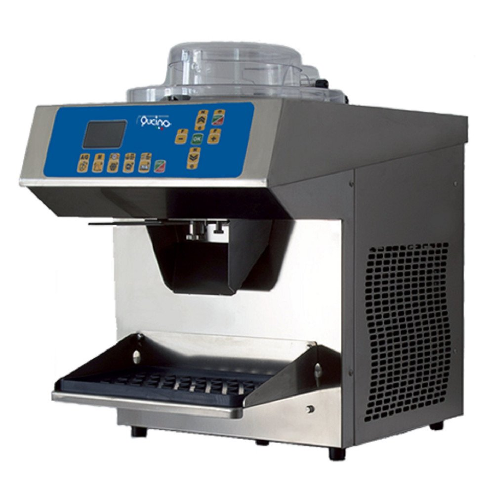Multifunzione Qucino Elettronica con Lavorazione Verticale Controllo Densità Inverter ed Estrazione Automatica - Produzione Gelato 1-2 Litri per Ciclo - Produzione Crema Pasticcera 5 Litri per Ciclo