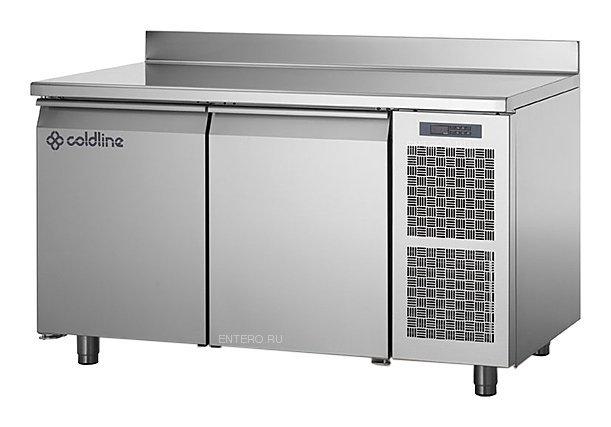 Tavolo Frigorifero Coldline Serie Master 2 Porte GN1/1 con Profondità 70 cm e Alzatina Posteriore - Temperatura -2°+8°C