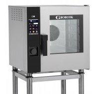 Forno Combinato Elettrico Giorik a Vapore Diretto 5 Teglie GN 2/3 Apertura Porta Destra Lavaggio Automatico